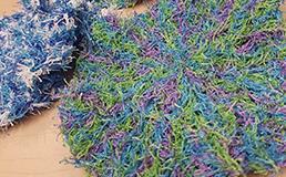 Crochet dish scrubby