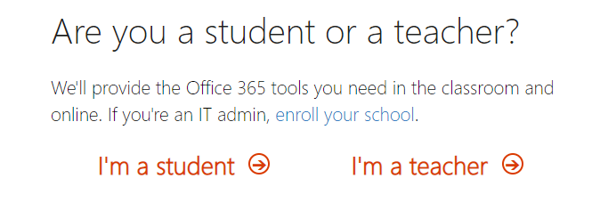O365 student or teacher